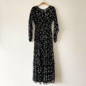 Free People Floral Print Boho Maxi Dress Size XS